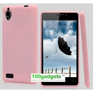 Бампер для Fly IQ4412 Quad Coral Розовый